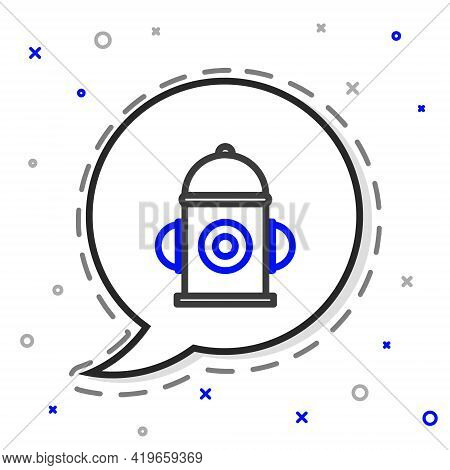 Line Fire Hydrant Icon Isolated On White Background. Colorful Outline Concept. Vector Illustration