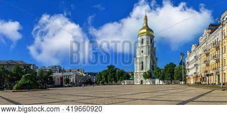 St. Sophia Cathedral On St. Sophia Square In Kyiv, Ukraine