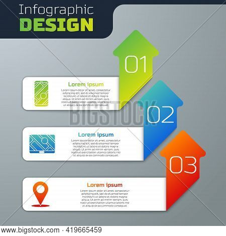 Set City Map Navigation, City Map Navigation And Location. Business Infographic Template. Vector