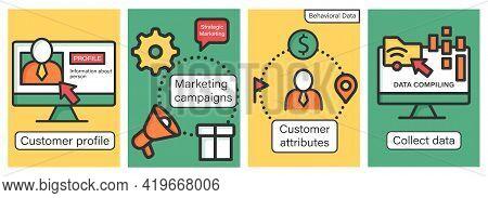 Customer Data Platform Brochures.customer Profile And Attributes, Marketing Campaigns Templates.flye