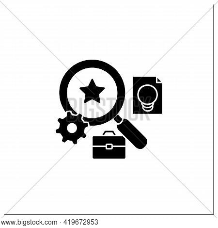 Talent Analytics Glyph Icon.software Gathers Insights Into Company Workforce, Potential Employees. F