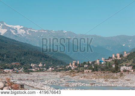 Mountain village in Svaneti, Caucasus region, Georgia