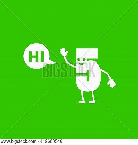 Hi Five Illustration Hi Signs Hand Vector
