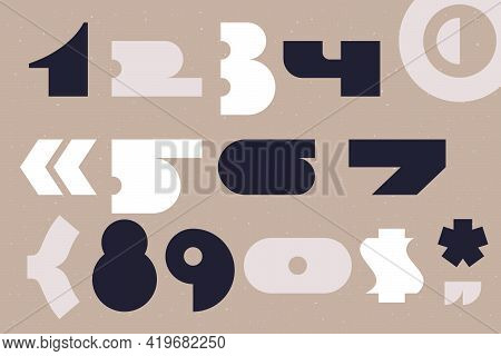 Wide Plump Numbers Set Is A Bold Stencil Font. Most Of The Glyphs Are Without Any Holes, It's Provid