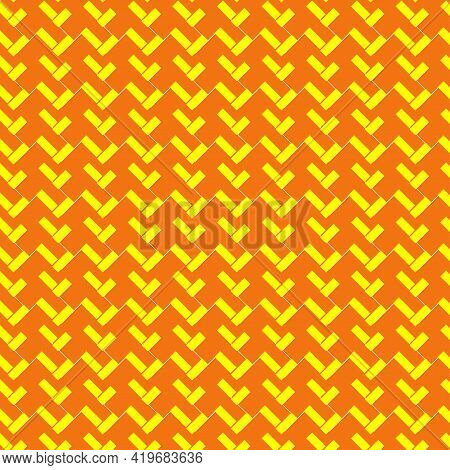 Abstract Decorative Textured Basket Weaving Background. Vector Seamless Pattern.
