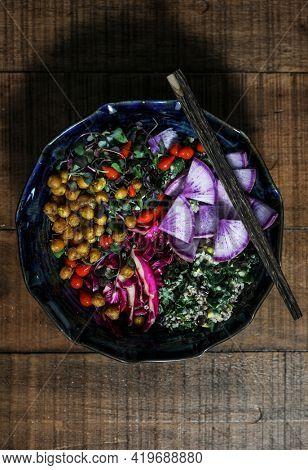 Healthy homemade organice buddha bowl