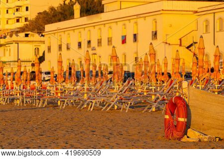 Beach in Rodi Garganico, Apulia, Italy
