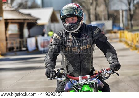 Moto Expo Show In St. Petersburg, The Sports And Technical Festival