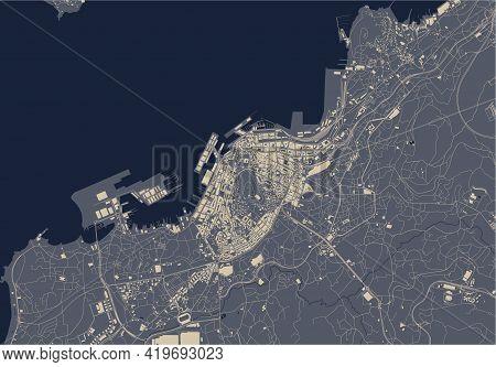 Map Of The City Of Vigo, Spain