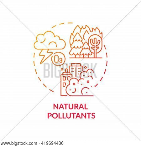 Natural Pollutants Concept Icon. Outdoor Air Pollutant Idea Thin Line Illustration. Harmful Substanc