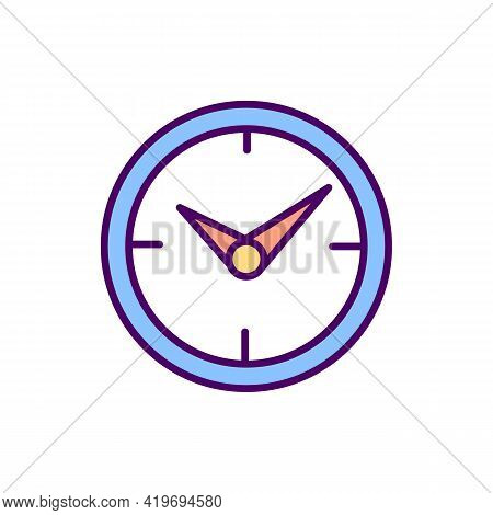 Clock Rgb Color Icon. Timer. Time Running. Timepiece Mechanism. Measuring, Indicating Device. Time M