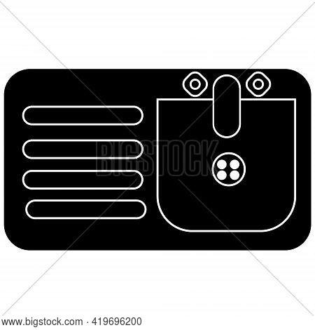 Washbasin For Hand Washing Ikon Isolated Background Vector Image