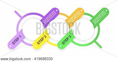 Organization Vector Infographic Template. Contemporary Presentation Design Elements With Text Space.