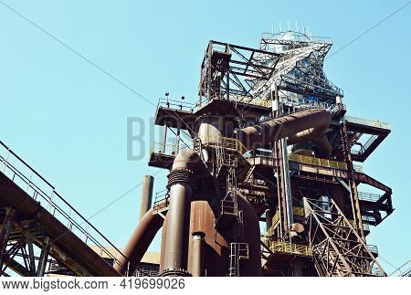 Ostrava, Czech Republic - April 21, 2019: Observation Tower Named Bolt Tower Was Built Over Blast Fu