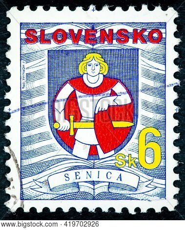 Slovakia - Circa 1996: A Stamp Printed In Slovakia From The
