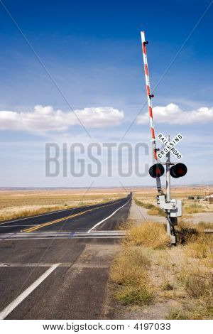 Railroad Crossing With Gates