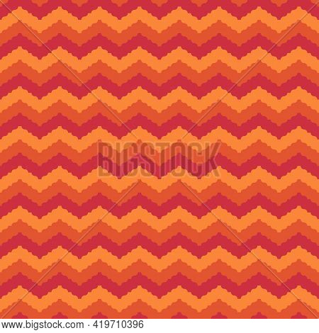 Seamless Pattern. Repeated Zigzag Lines. Ethnic Ornament. Jagged Stripes. Waves Ornate. Curves Image