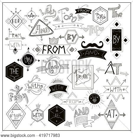 Locators From With Catchwords With Heart Love And Black Moustaches Symbols Composition On Whiteboard