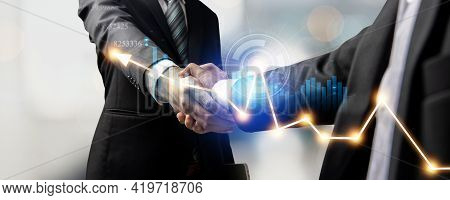 Handshake Of Customer And Investor Or Hand Of Successful Business People Shake Hand After Success In