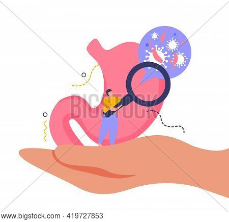 Health And Body Checkup Concept With Healthcare Symbols Flat Vector Illustration