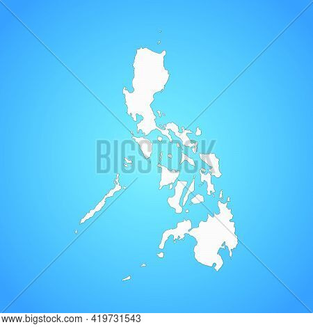 Highly Detailed Philippines Map With Borders Isolated On Background. Flat Style