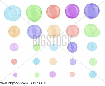 Soap Bubbles On A White Background Burbujas, Natural, Wet, Blower, Liquid, Colorful, Abstract