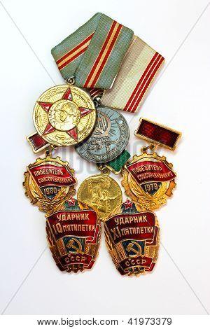 Soviet medals for valorous work