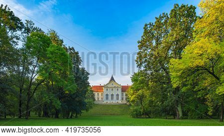 Dzikow Castle (palace), Tarnobrzeg, Poland-03.10.2020: 15th-century Or Perhaps A 14th-century Castle