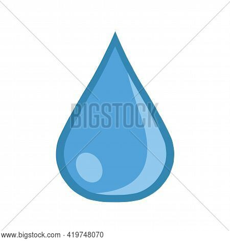 Water Droplet Clean Waterdrop Vector Isolated Design Element Illustration On A White Background