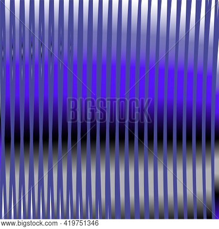 Blue Gray Linear Abstract Gradient Texture With Stripes Reflex And Shine Effect. Calm Monochrome Bac