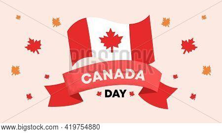Happy Canada Day Illustration Vector. Background Illustration Vector of Happy Independence Day of Ca