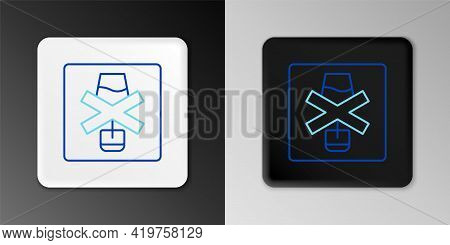 Line No Alcohol Icon Isolated On Grey Background. Prohibiting Alcohol Beverages. Forbidden Symbol Wi