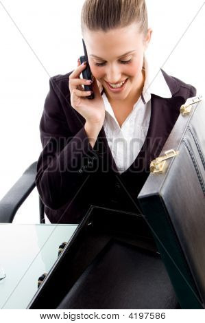 Executive Busy With Phone Call
