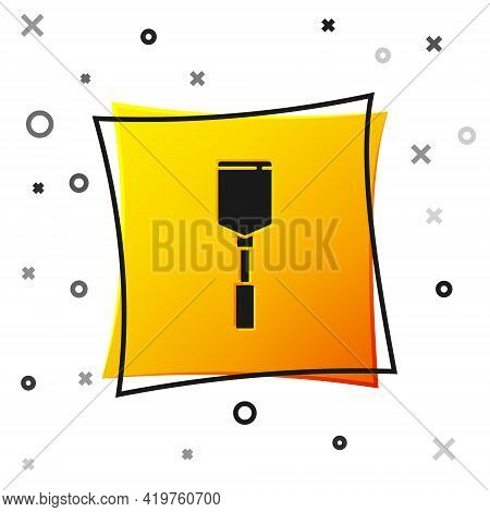 Black Spatula Icon Isolated On White Background. Kitchen Spatula Icon. Bbq Spatula Sign. Barbecue An