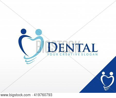 Dental Implant Logo. Dental Care Logo Design Vector Template