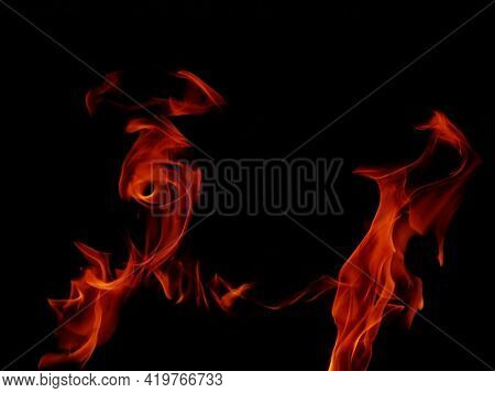 Abstract Blaze Fire Flame Texture For Banner Background.strange Shape Lights.