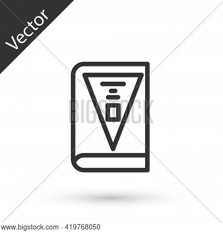 Grey Line 26 November India Constitution Day Icon Isolated On White Background. Vector