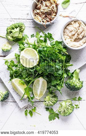 Prepared fresh parsley and lime