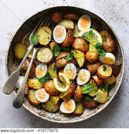 Homemade ruby gem potato salad