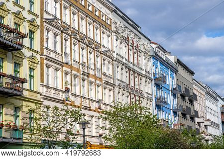 Beautiful Renovated Old Apartment Buildings Seen In Prenzlauer Berg, Berlin