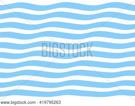 Striped Stripe Background Minimalism, Blue Stripes, Sea Wave, Wavy Lines Seamless Pattern
