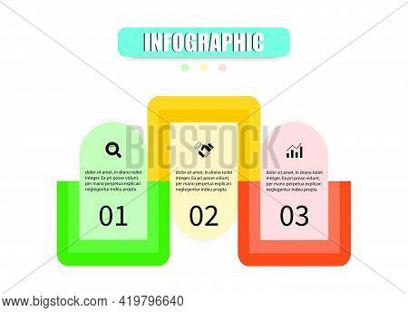 Business Vector Design Template Icon For Illustration. Planning Timeline Three Steps Infographics De