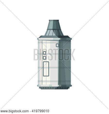 Orbital Space Station Compartment Cartoon Vector Illustration