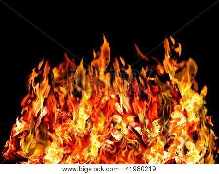 Hot Fire On Black