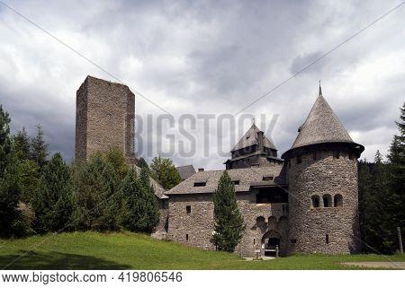 Burg Finstergrun Is A Castle In The Austrian State Of Salzburg
