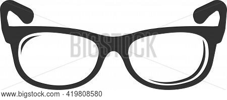 The Sunglasses Icon. Flat Icon In Black Style.