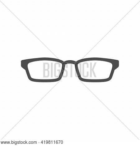 Classic Eyeglasses Icon Or Spectacle Frame Silhouette I