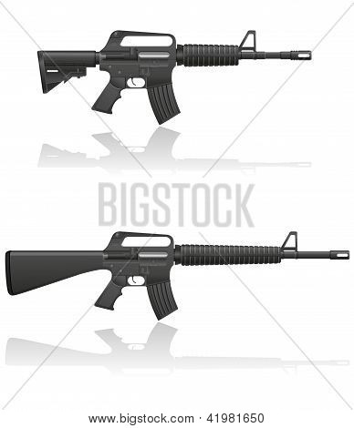 Automatic Machine M-16 Vector Illustration