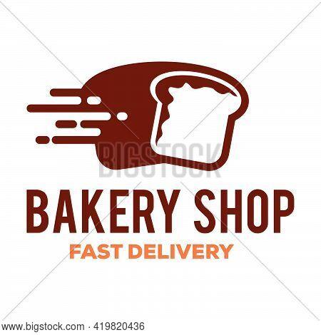 Bakery Bread Logo Template, Bread Shop House
