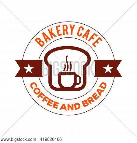 Bread Cafe Logo Vector Icon Illustration